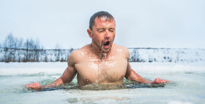Cold thermogenesis ice bathing