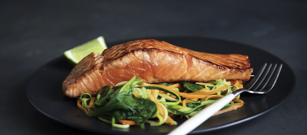 Salmon on Zoodles