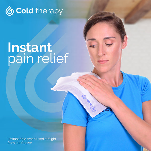 Medium Gelpacksdirect Luxury Reusable Hot/Cold Gel Pack for Pain Relief
