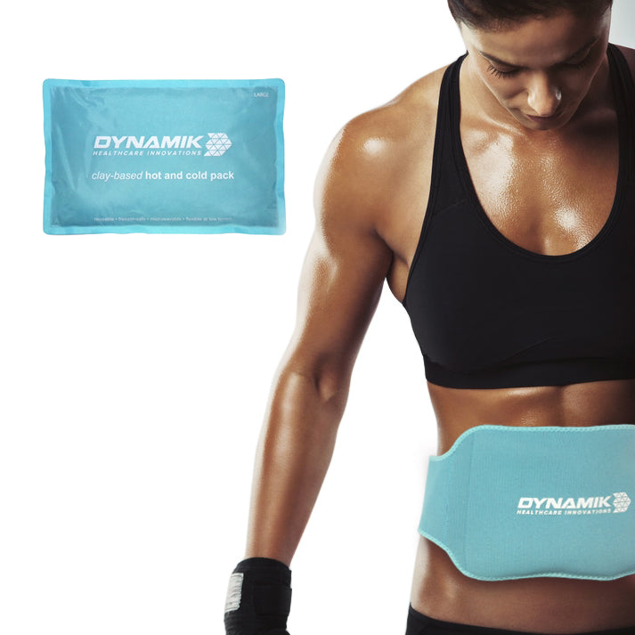 Dynamik Hot/Cold Clay Pack with Neoprene Wrap for Lower Back and Abdominal Pain Relief