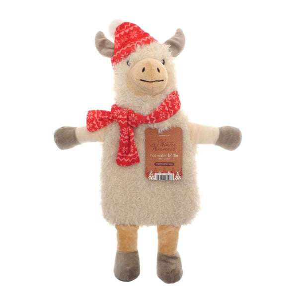 Premium Hot Water Bottle With Winter Warmer Novelty Fun Cover 1 Litre - Llama - Hot Water Bottle