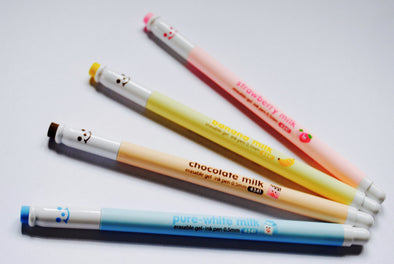 Kawaii flavoured milk erasable gel-ink pen