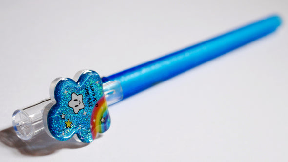 Rainbow cloud fineliner erasable gel pen