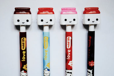 Kawaii milk carton retractable ballpoint pen