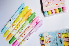 Bunny bake-off double-ended highlighter pens pack