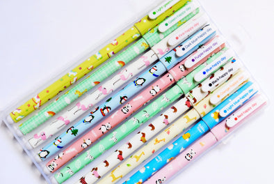Happy Day animals coloured gel pens pack