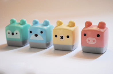 Mini animal cube pencil sharpener