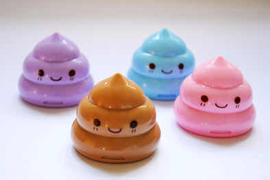 Kawaii cheeky poo pencil sharpener