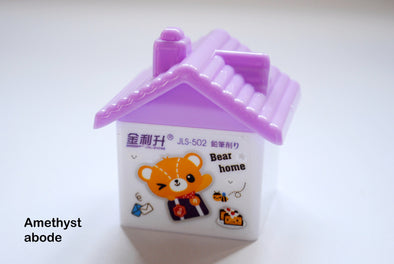 Kawaii bear house double pencil sharpener