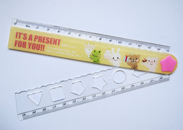 Animated animals folding ruler