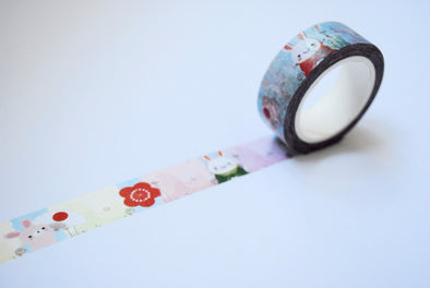 Japanese bunnies washi tape