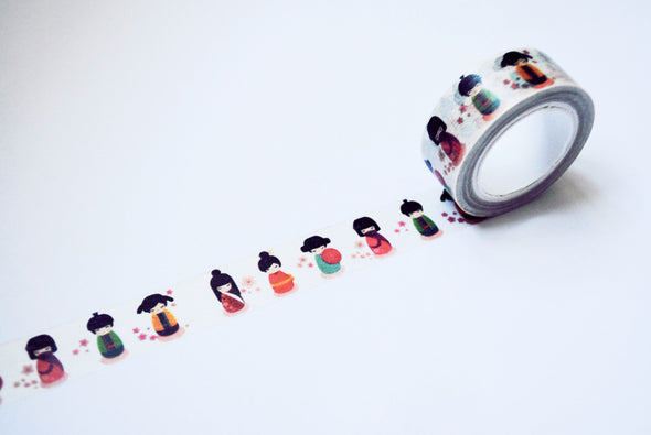 Cute Japanese doll washi tape