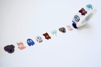 Adorable animals washi tape
