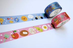 Fab food and cool stuff wide washi tape duo