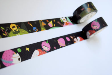 Sweet space travels wide washi tape duo