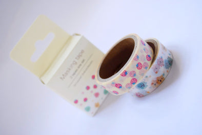 Spotty strawberry washi tape duo