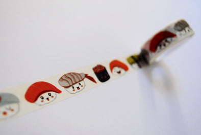 Kawaii smiling sushi washi tape