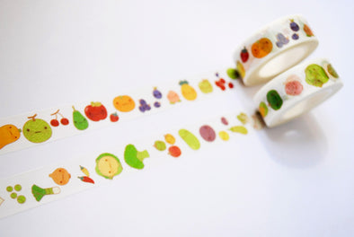 Oh my goodness fruit + veg washi tape
