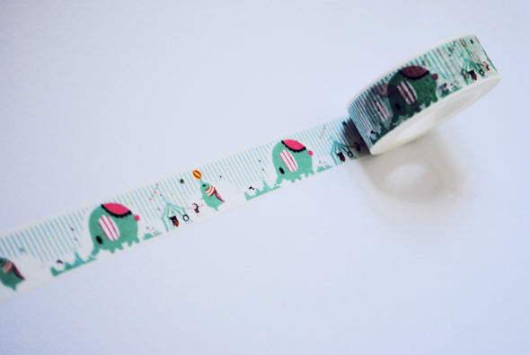 Kawaii circus washi tape