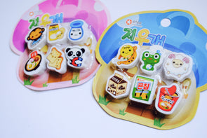 Kawaii treats and creatures eraser set
