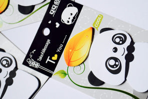 Handy panda sticky note pad