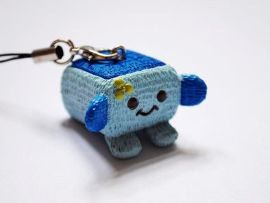 Teeny tiny tofu phone charm