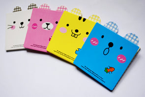 Kawaii square animal face sticky note pad
