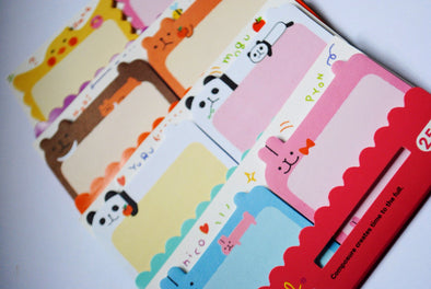 Adorable animal sticky note pad duo