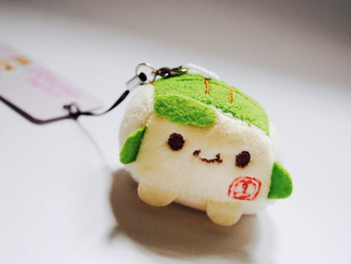 Mini tofu plush phone charm