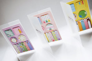 Cute and colourful sticky page marker pouch