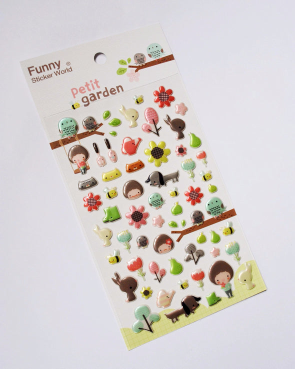 Sowing and growing puffy garden stickers