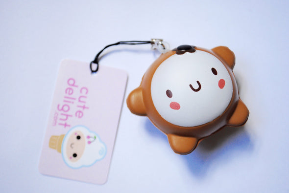 Cute happy round-face squishy phone charm