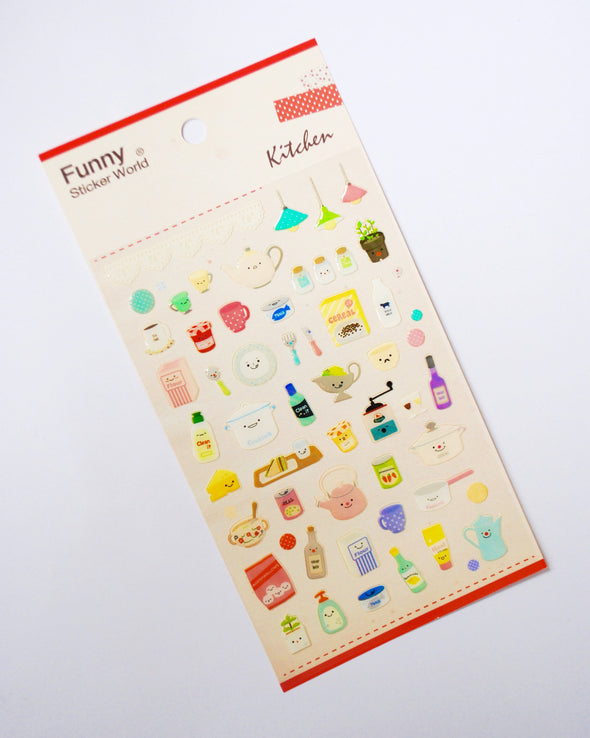 Kawaii kitchen gel stickers