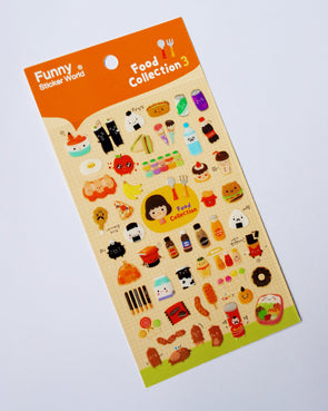 Funny food gel stickers