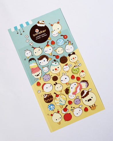Scrumptious ice cream cone seal stickers