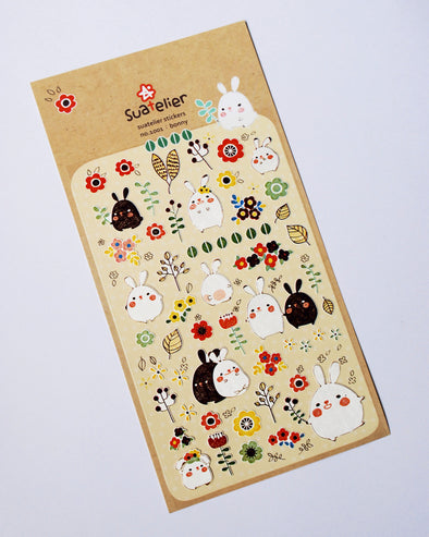 Kawaii funny bunny seal stickers