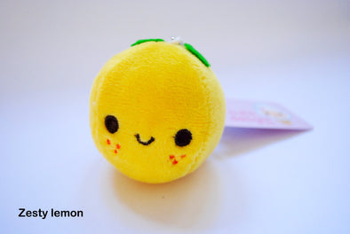 Cute fruit plush phone charm