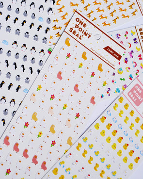 Kawaii animal mixture mini seal stickers