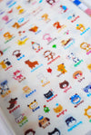 Super-sweet 8-sheet deco sticker pack folder