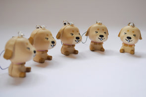 Playful puppy squishy phone charm