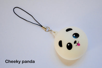 Kawaii scented panda pal squishy phone charm