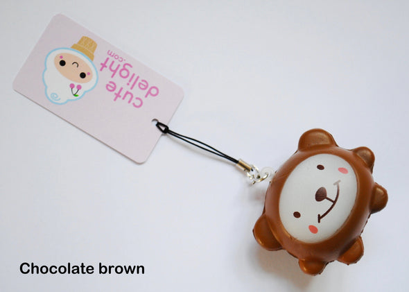 Delightful bear squishy phone charm