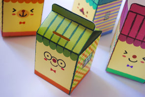 Cutie cardboard carton DIY coin box