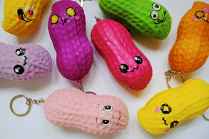 Flamboyant giant peanut scented squishy keyring