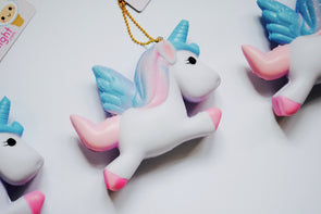 Kawaii pretty unicorn scented squishy keychain