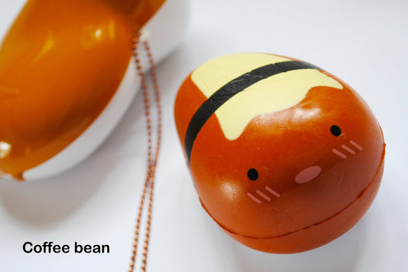 Kawaii pop-out bean pod scented squishy