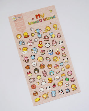 Kawaii friends cute seal stickers