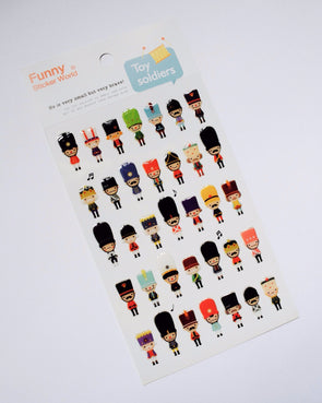 Kawaii toy soldier gel stickers