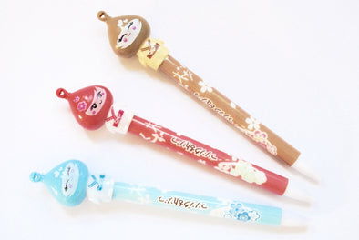 Kawaii kimono girl retractable ballpoint pen