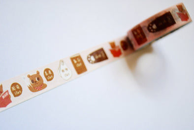 Kawaii hungry bear shopping list washi tape